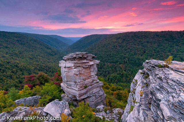 Lindy Point Sunset - Blackwater Falls State Park - West Virginia D300_19373
